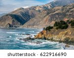 highway 1 on the pacific coast  ... | Shutterstock . vector #622916690