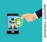cyber security design | Shutterstock .eps vector #622919408