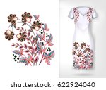embroidery colorful trend... | Shutterstock .eps vector #622924040