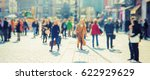 crowd of anonymous people... | Shutterstock . vector #622929629