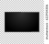 tv screen on a isolated... | Shutterstock .eps vector #622934306