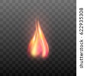 realistic transparent flame... | Shutterstock .eps vector #622935308