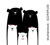 bear family. vector cartoon... | Shutterstock .eps vector #622939130