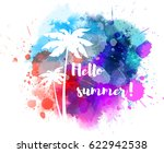 purple and blue colored... | Shutterstock .eps vector #622942538