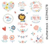 mother's day set with... | Shutterstock .eps vector #622944278