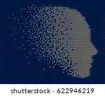 mosaic consisting of the shape... | Shutterstock .eps vector #622946219