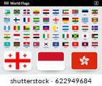 flag icons of the world with... | Shutterstock .eps vector #622949684
