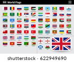 flag icons of the world with... | Shutterstock .eps vector #622949690