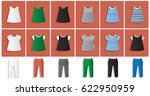 illustration set of clothes for ... | Shutterstock .eps vector #622950959