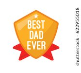best dad ever sign for father's ... | Shutterstock .eps vector #622955018