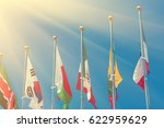 flags of different countries on ... | Shutterstock . vector #622959629