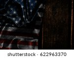usa flag on a wood surface | Shutterstock . vector #622963370