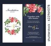 wedding invitation card | Shutterstock .eps vector #622964378