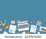 accounting concept. financial... | Shutterstock . vector #622965200