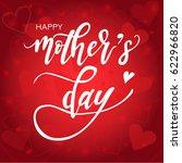 happy mother's day calligraphy... | Shutterstock .eps vector #622966820