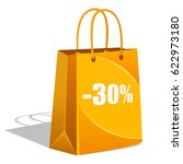 shopping bag on a white... | Shutterstock . vector #622973180