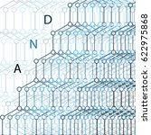 molecules concept of neurons... | Shutterstock .eps vector #622975868