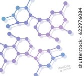 structure molecule and... | Shutterstock .eps vector #622976084