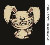 cartoon scary rabbit | Shutterstock .eps vector #622977860