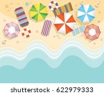 aerial view of summer beach in... | Shutterstock .eps vector #622979333
