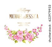 wedding invitation card with... | Shutterstock .eps vector #622979933