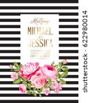 marriage invitation card with...   Shutterstock .eps vector #622980014