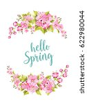 hello spring calligraphic text... | Shutterstock .eps vector #622980044