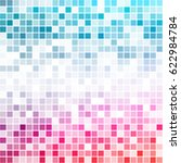 colorful gradient pixel pattern.... | Shutterstock .eps vector #622984784