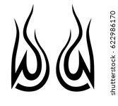 tattoo tribal vector designs.... | Shutterstock .eps vector #622986170