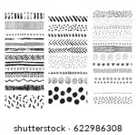 set of vector seamless hand... | Shutterstock .eps vector #622986308