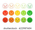 colored flat icons of emoticons.... | Shutterstock .eps vector #622987604