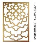 vector laser cut panel. pattern ...   Shutterstock .eps vector #622987664