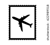 postal stamp icon with air... | Shutterstock .eps vector #622989518