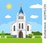 church icon. vector... | Shutterstock .eps vector #622991153