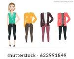 clothing sets for female....   Shutterstock .eps vector #622991849