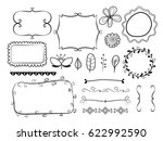 big set of decorative elements. ... | Shutterstock .eps vector #622992590