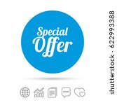 special offer sign icon. sale... | Shutterstock .eps vector #622993388