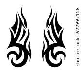 tattoo sketch tribal vector... | Shutterstock .eps vector #622995158