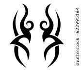 tattoo sketch tribal vector... | Shutterstock .eps vector #622995164