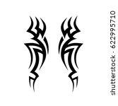 tattoo sketch tribal vector... | Shutterstock .eps vector #622995710