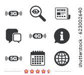 mobile telecommunications icons.... | Shutterstock .eps vector #623002640
