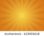 sun rays yellow background | Shutterstock .eps vector #623003618