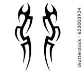 tattoo sketch tribal vector... | Shutterstock .eps vector #623003924