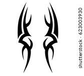 tattoo sketch tribal vector... | Shutterstock .eps vector #623003930