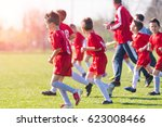 kids soccer football   small... | Shutterstock . vector #623008466