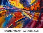 abstract watercolor texture....   Shutterstock . vector #623008568