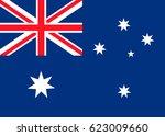 australian flag | Shutterstock .eps vector #623009660