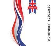 iceland flag background | Shutterstock .eps vector #623013680