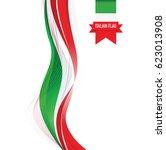 italian flag | Shutterstock .eps vector #623013908