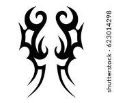 tribal tattoo art designs.... | Shutterstock .eps vector #623014298